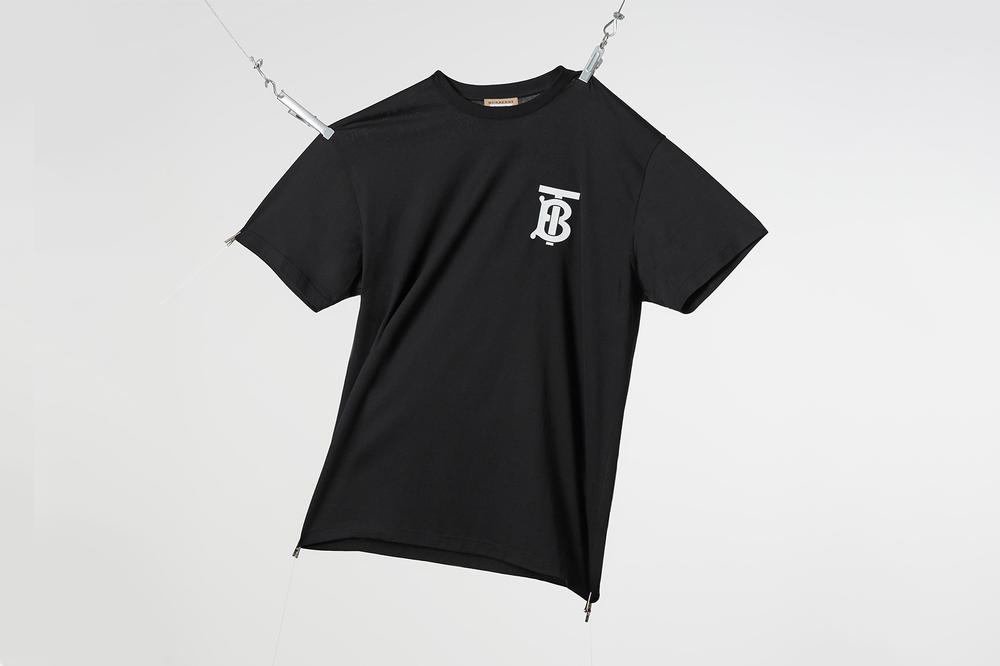 Riccardo Tisci Thomas Burberry Monogram Black T-shirt 2018