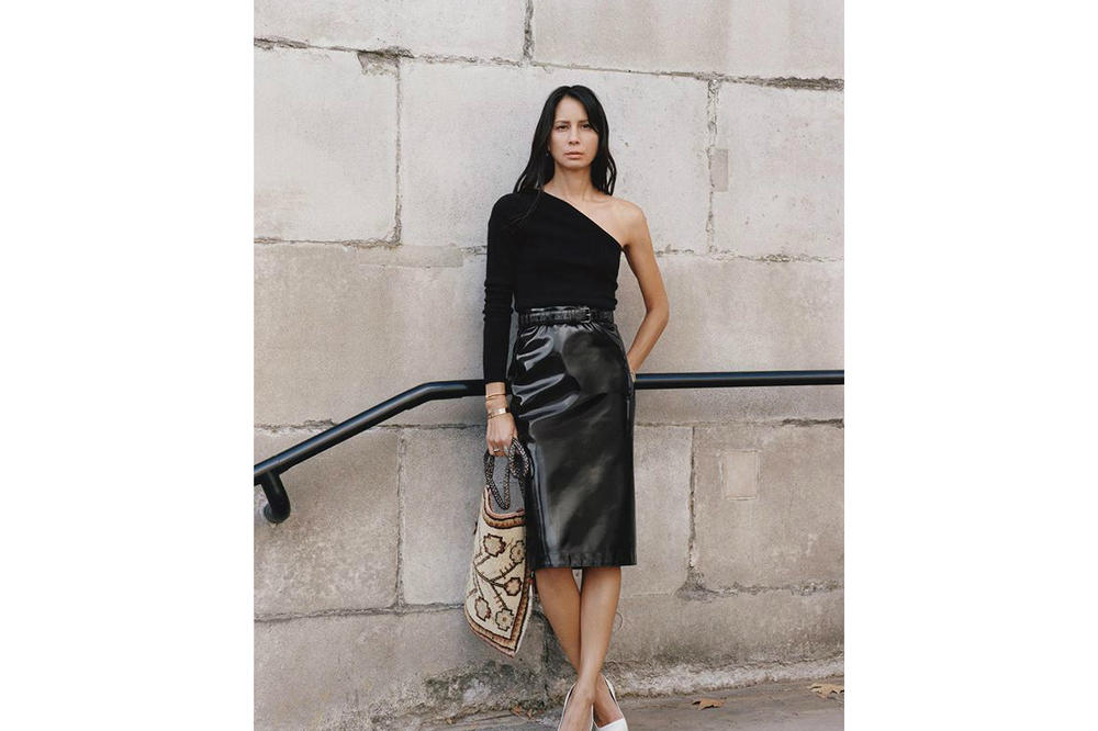 Burberry Spring/Summer 2019 B Series Capsule Collection Vinyl Skirt Black