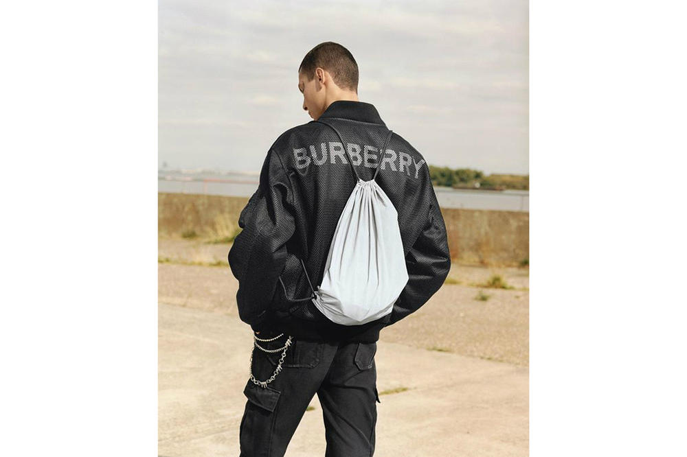 Burberry Spring/Summer 2019 B Series Capsule Collection Mesh Bomber Jacket Black