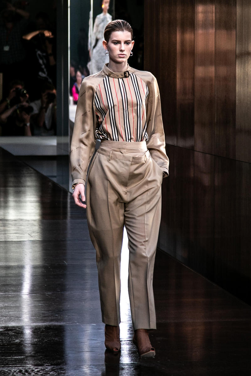 Riccardo Tisci Burberry Debut Runway Show SS19 nova check shirt pants