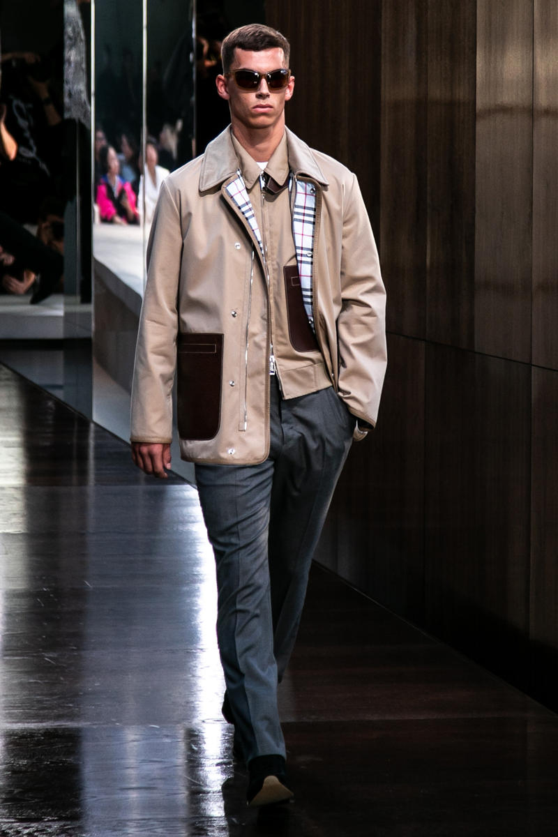 Riccardo Tisci Burberry Debut Runway Show SS19 jacket mens