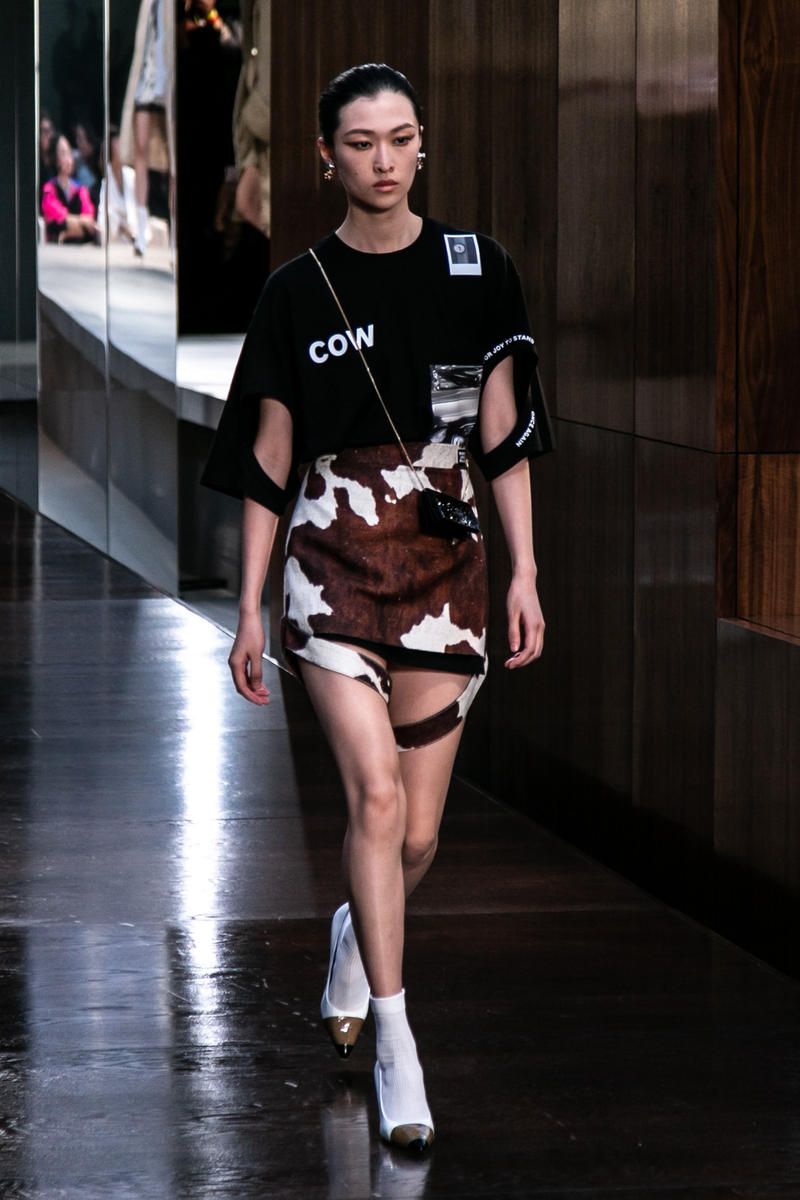 Riccardo Tisci Burberry Debut Runway Show SS19 Cow T-Shirt Shorts