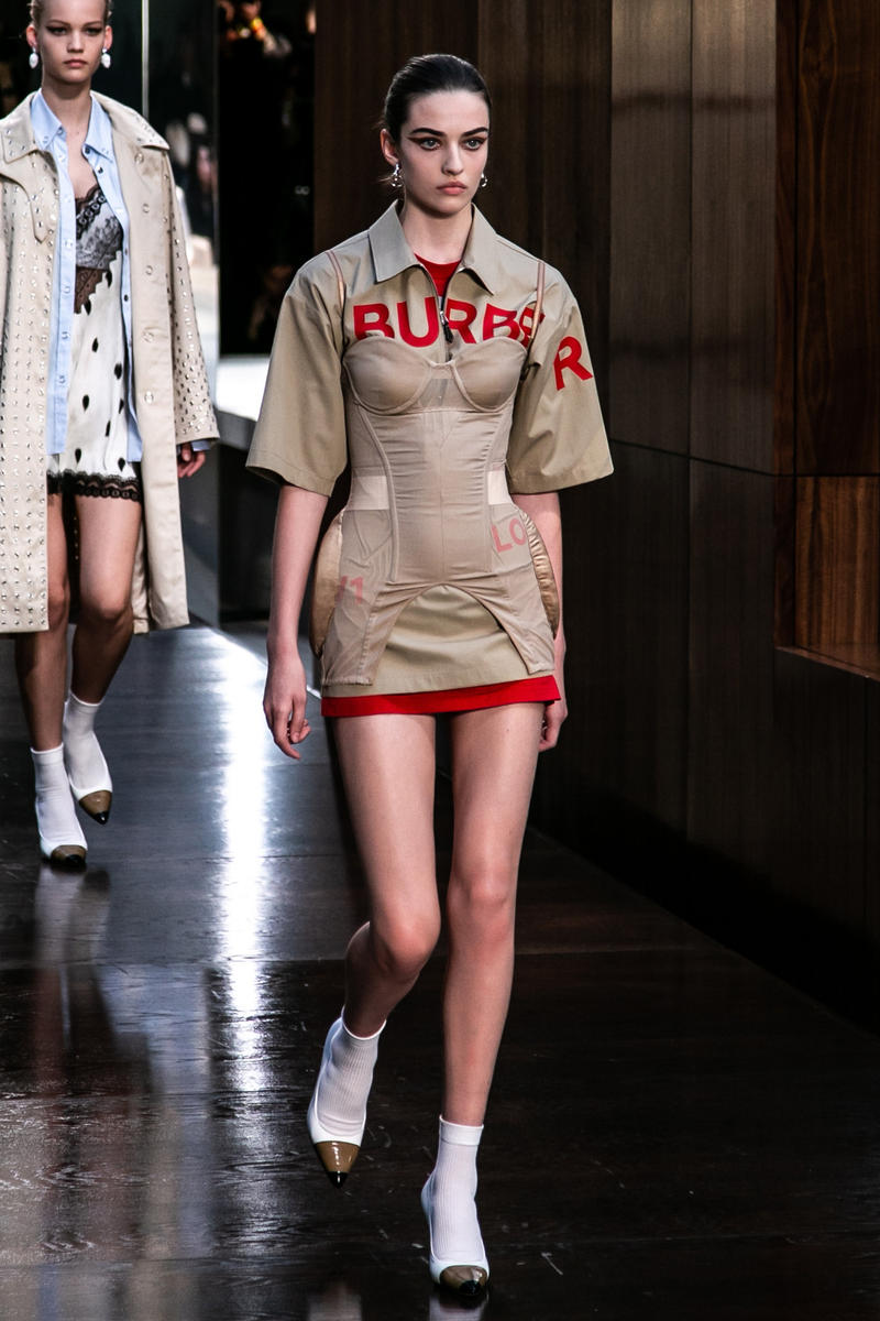 Riccardo Tisci Burberry Debut Runway Show SS19 Bra Corset Dress