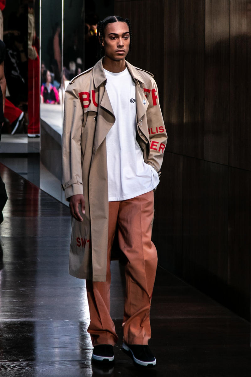 Riccardo Tisci Burberry Debut Runway Show SS19 Mens Trench Coat