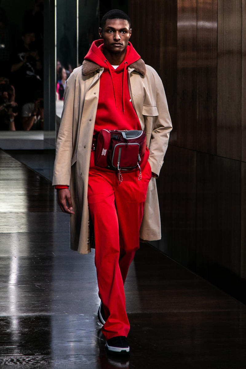 Riccardo Tisci Burberry Debut Runway Show SS19 Hoodie Sweat Pants Trench Coat
