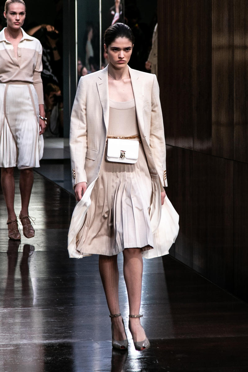 Riccardo Tisci Burberry Debut Runway Show SS19 belt bag chain skirt