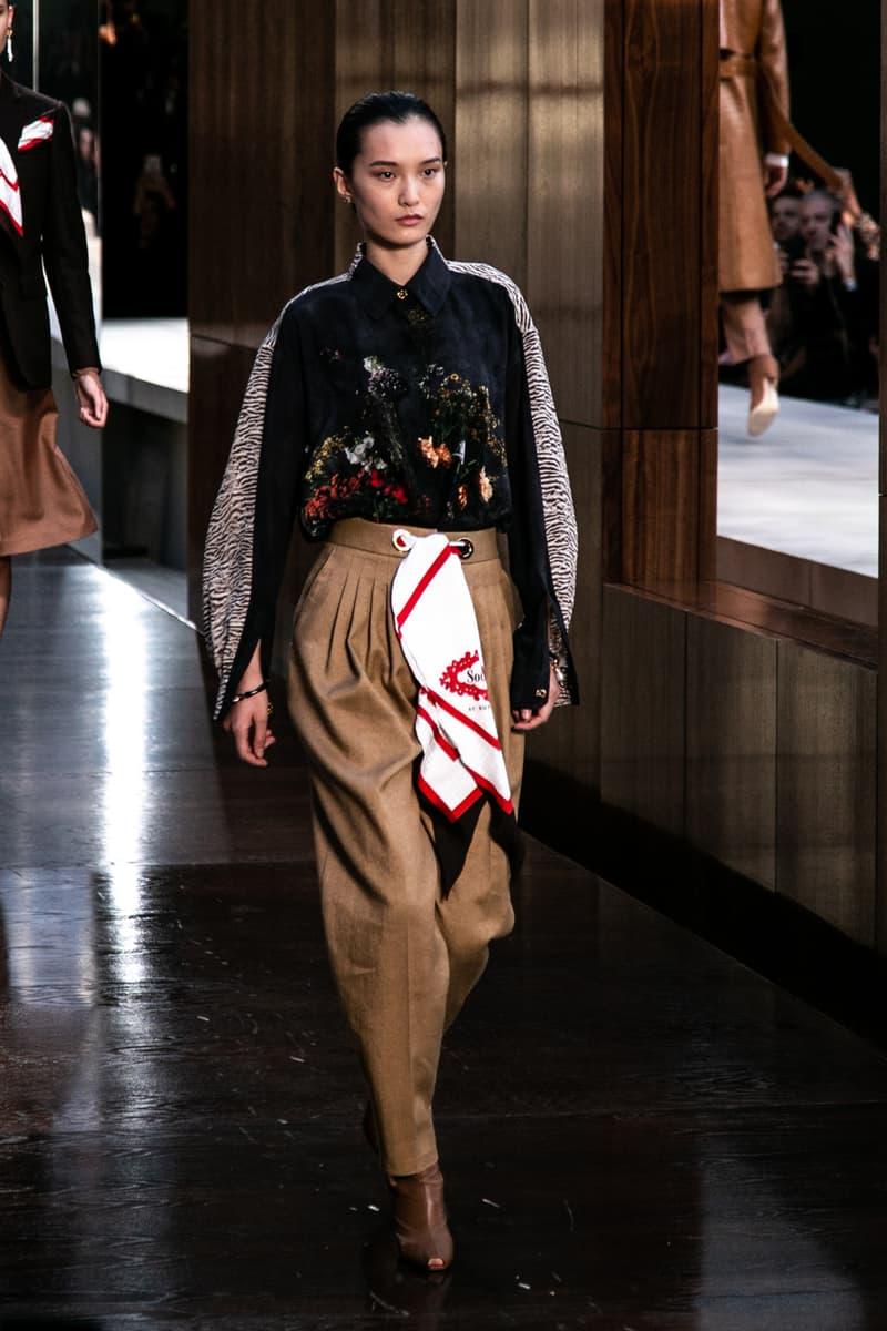 Riccardo Tisci Burberry Debut Runway Show SS19 silk scarf skirt