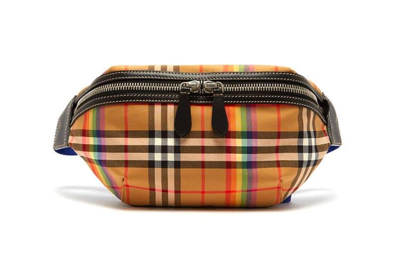 Burberry Vintage Check Rainbow Stripe Fanny Pack Bag