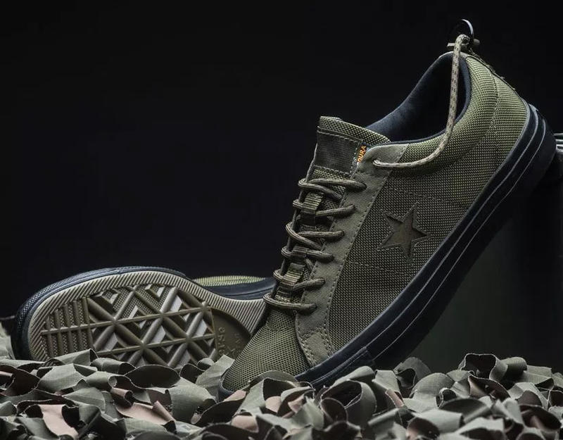 carhartt wip converse one star ox collab collection military green white black