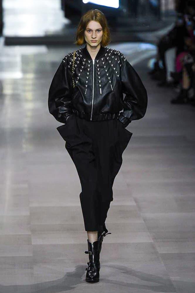 Celine Hedi Slimane Spring Summer 2019 Paris Fashion Week Show Collection Jacket Trousers Black