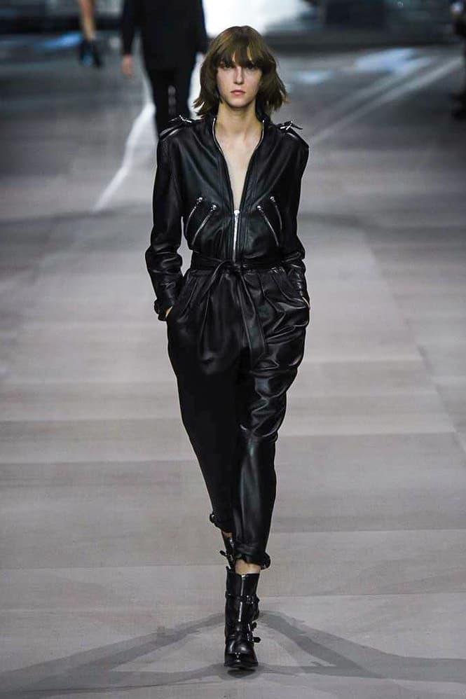 Celine Hedi Slimane Spring Summer 2019 Paris Fashion Week Show Collection Jumpsuit Black
