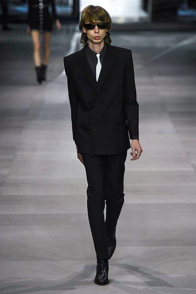 Celine Hedi Slimane Spring Summer 2019 Paris Fashion Week Show Collection Suit Black