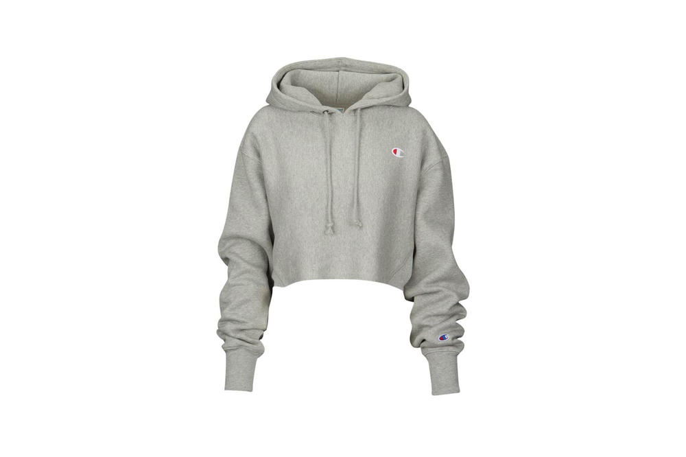 Champion Cropped Hoodie Oxford Gray