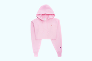 "Champion's Cozy Cropped Hoodie Arrives in ""Pink Candy"""