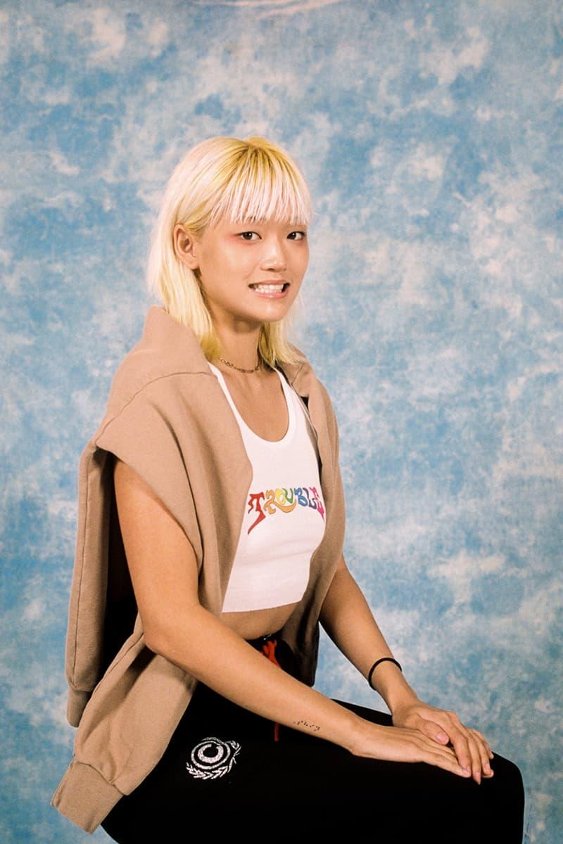 Cherry Los Angeles ADHD Collection Lookbook Hoodie Tan Crop Top White