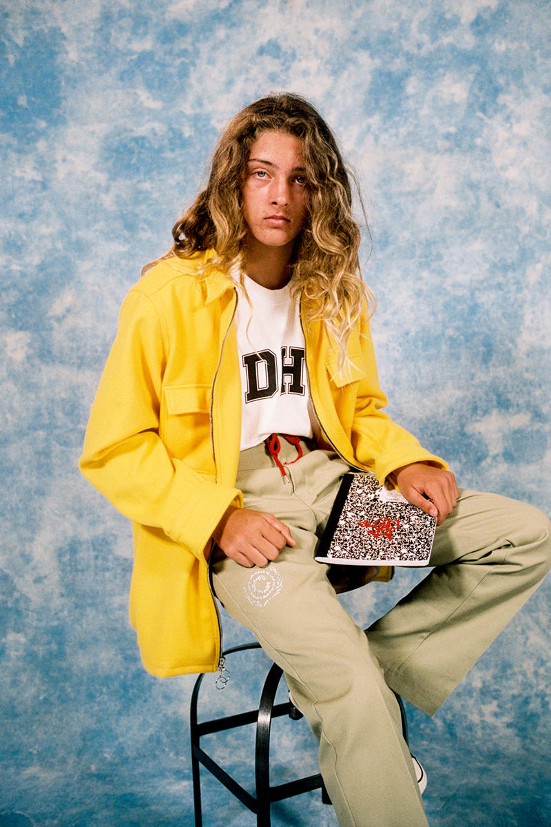 Cherry Los Angeles ADHD Collection Lookbook T-shirt White Jacket Yellow