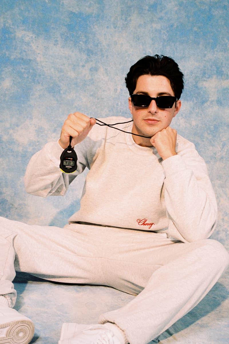 Cherry Los Angeles ADHD Collection Lookbook Crewneck Sweater Sweatpants Grey