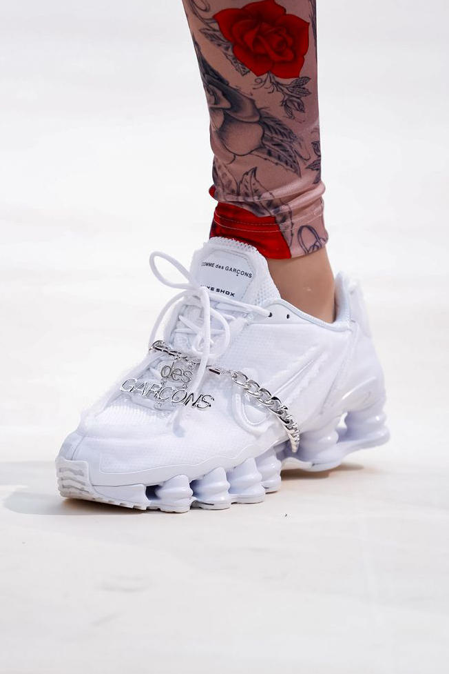 cf6de75dc254 COMME des GARCONS Nike Shox Sneaker White Spring Summer 2019 Show Paris  Fashion Week