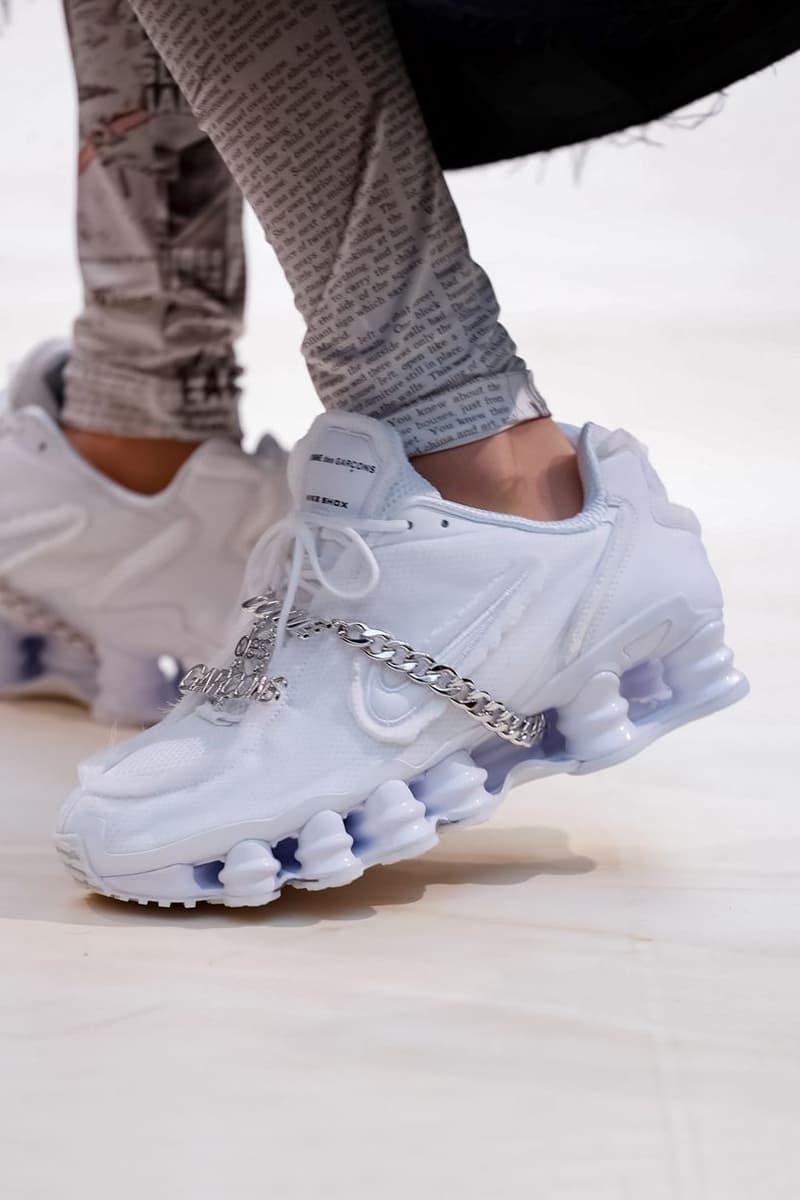COMME des GARCONS Nike Shox Sneaker White Spring/Summer 2019 Show Paris Fashion Week
