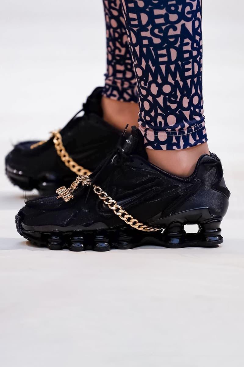 COMME des GARCONS Nike Shox Sneaker Black Spring/Summer 2019 Show Paris Fashion Week
