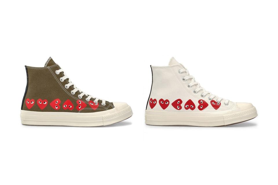 02aa8870336 COMME des GARCONS x Converse Hearts Chuck Taylor