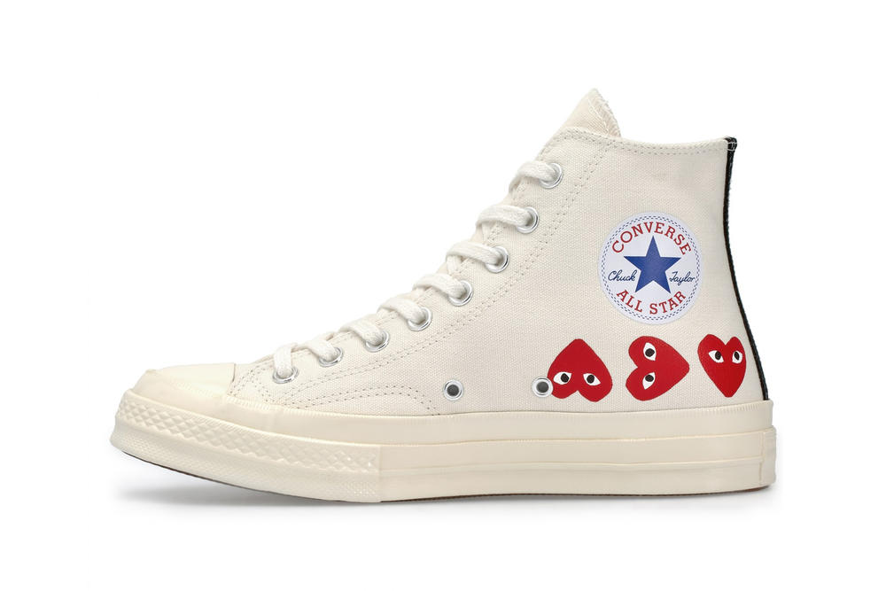 f396867657f2 COMME des GARCONS x Converse All Star High Top White