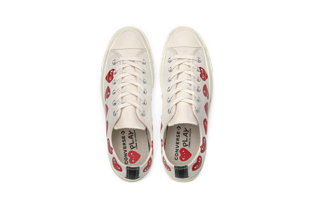 8b4f8feb72bb4 Dover Street Market. COMME des GARCONS x Converse All Star Low Top White