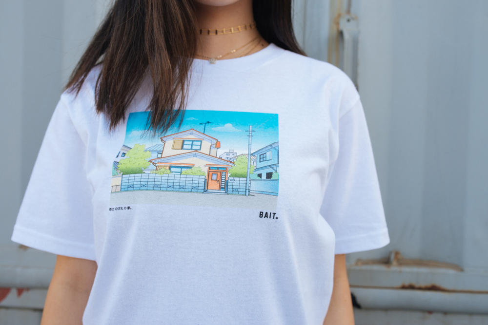 Doraemon x BAIT Capsule Collection Lookbook T-Shirt White