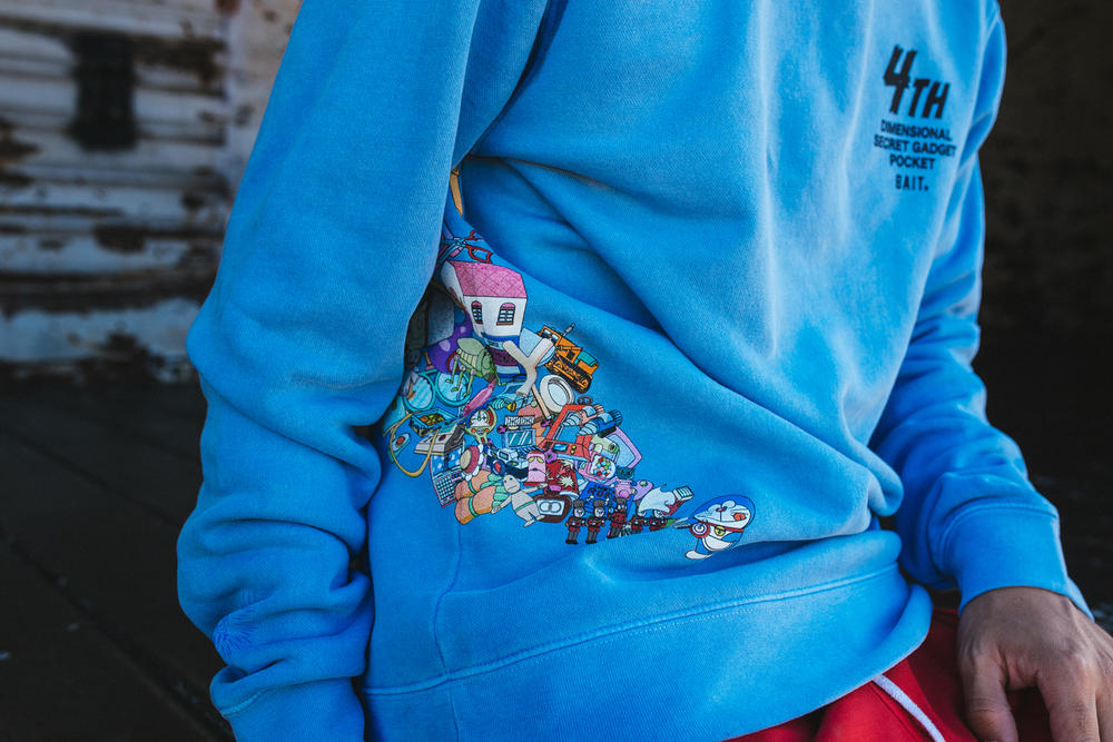 Doraemon x BAIT Capsule Collection Lookbook Long Sleeve Shirt Blue