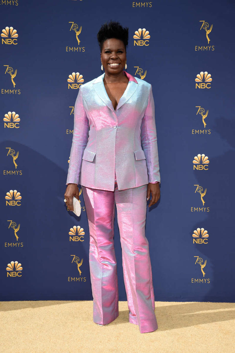 Emmys Emmy Awards 2018 Red Carpet Leslie Jones