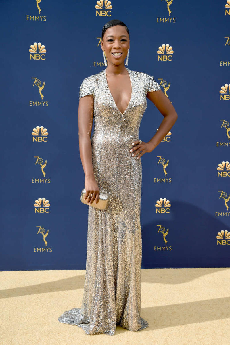 Emmys Emmy Awards 2018 Red Carpet Samira Wiley
