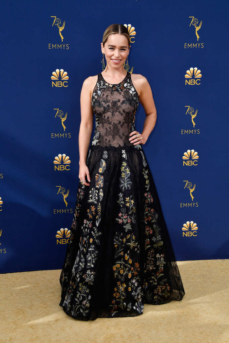 Emilia Clarke Emmys Emmy Awards 2018 Red Carpet