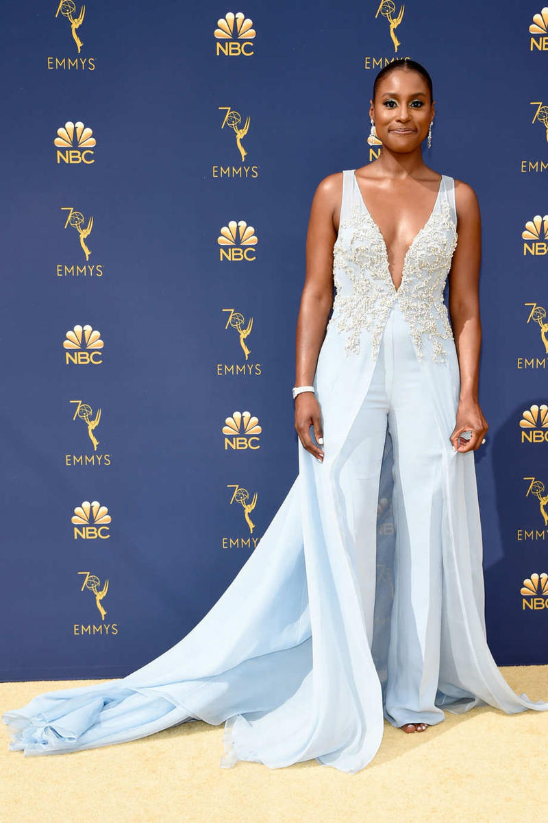 Issa Rae Emmys Emmy Awards 2018 Red Carpet