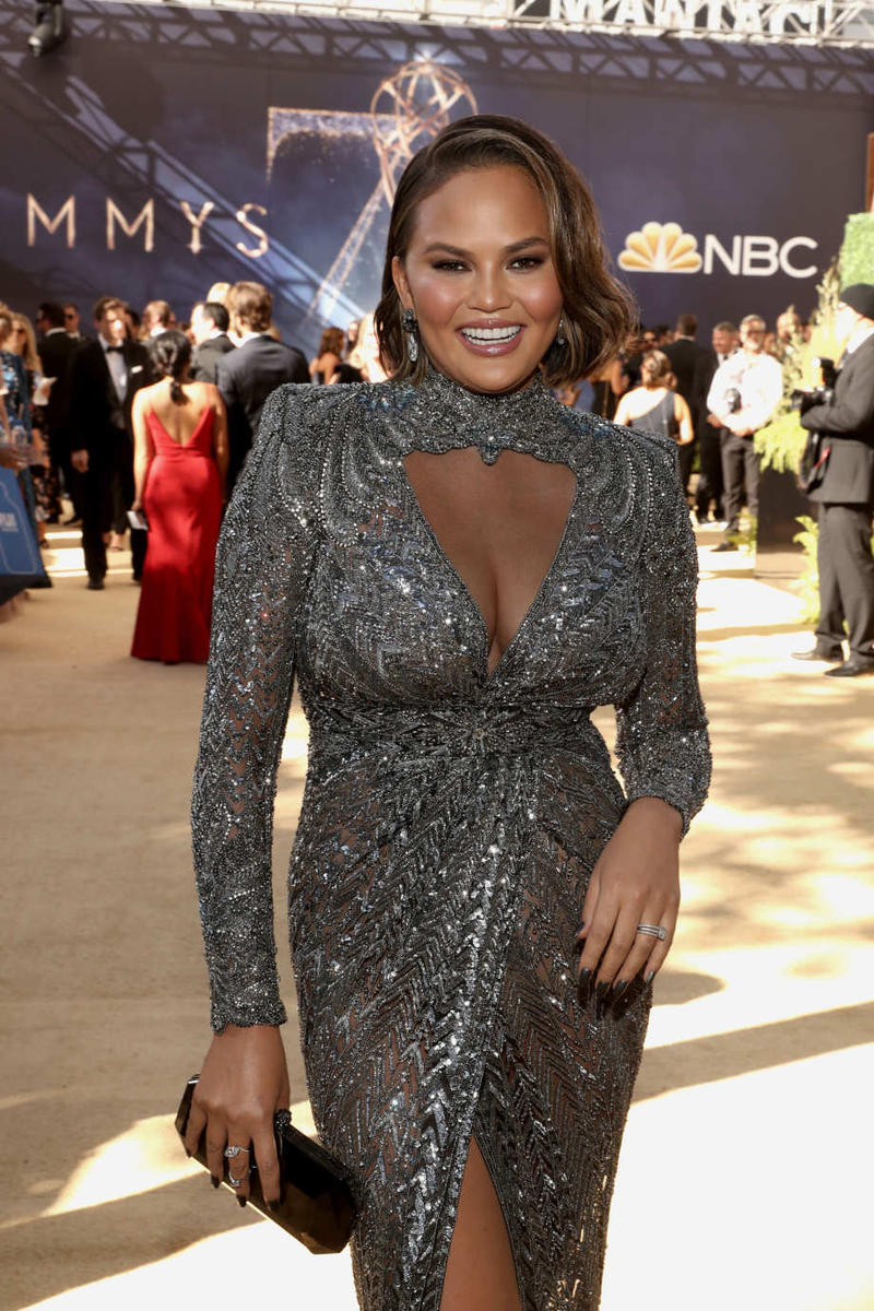 Chrissy Teigen Emmys Emmy Awards 2018 Red Carpet