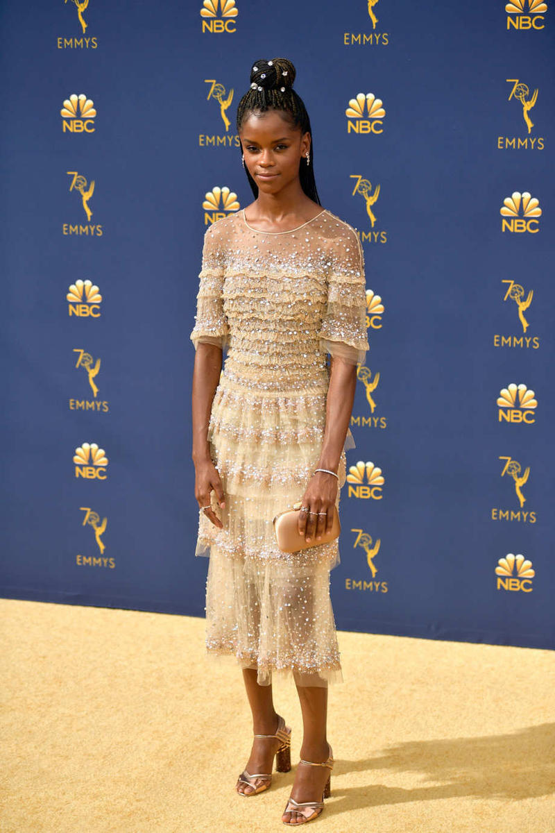 Emmys Emmy Awards 2018 Red Carpet Letitia Wright