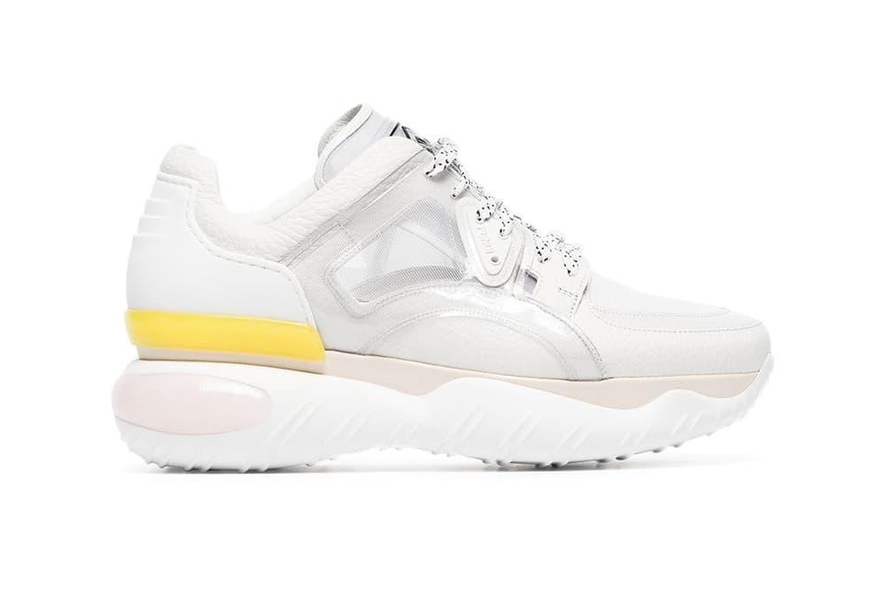 Fendi Fancy Chunky Runner Sneakers White Leather