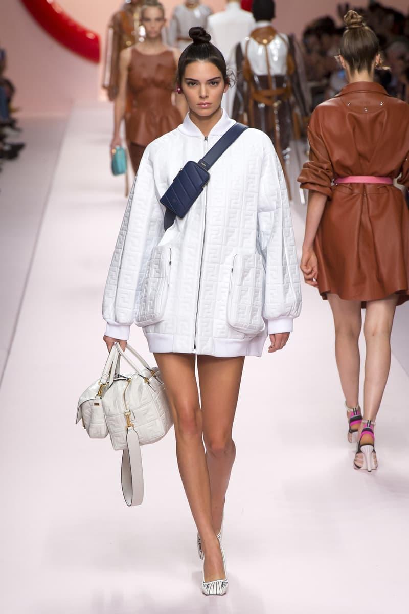 Fendi Karl Lagerfeld Spring Summer 2019 Milan Fashion Week Show Collection Kendall Jenner Jacket White