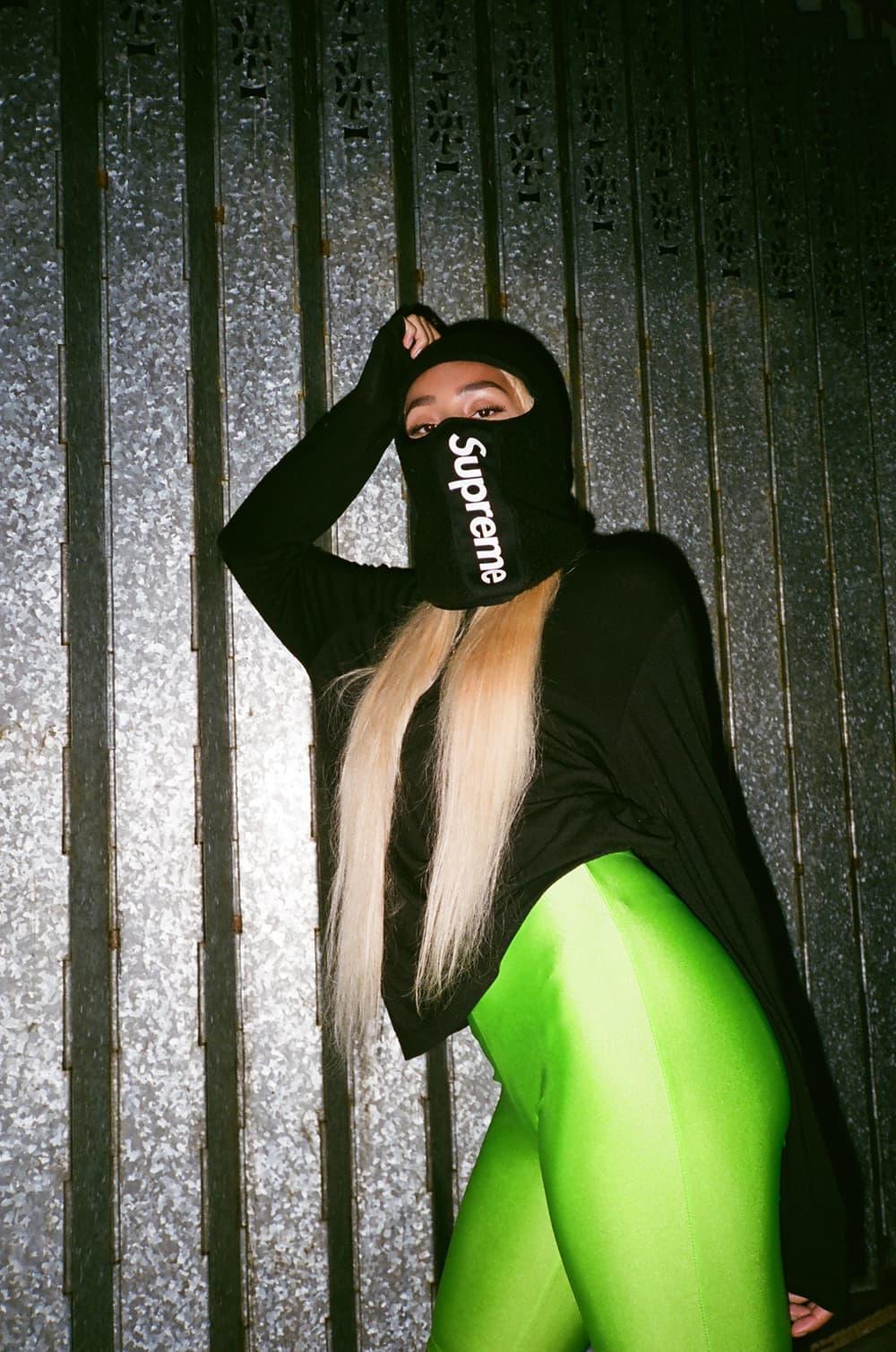 Frankie Collective Reworked Supreme Balaclava Neon Green Logo Black