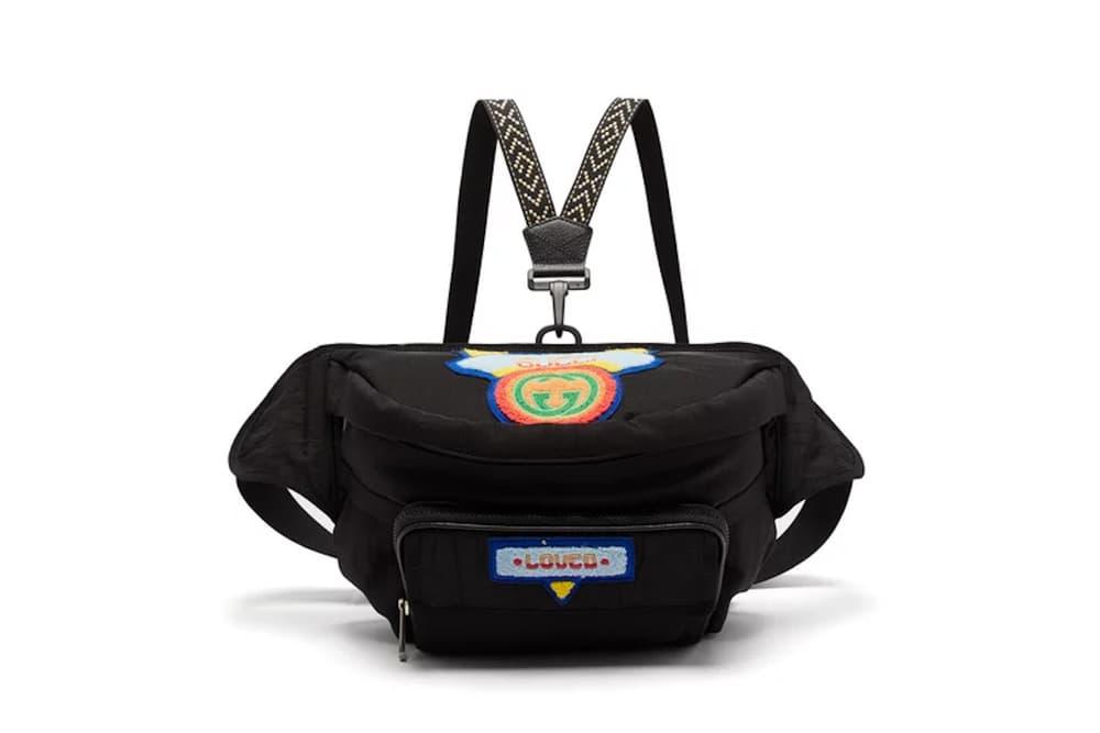 Gucci Two-Strap Retro Logo Fanny Pack Bag Bum Bag Rainbow Strap Belt Bag Pouch Alessanro Michele