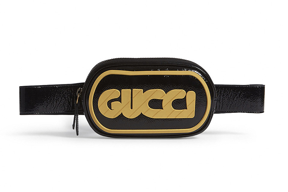 39b1309434d Gucci s Retro Logo Belt Bag Will Bring a Touch of Fun to Any Fall Outfit.  Black and yellow.