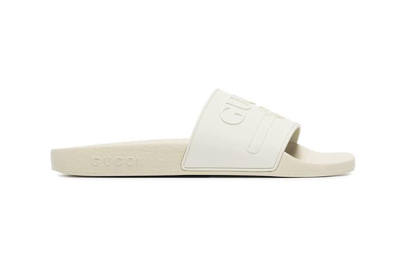 fcb97274b Where to Buy Gucci White Logo Pursuit Slides | HYPEBAE