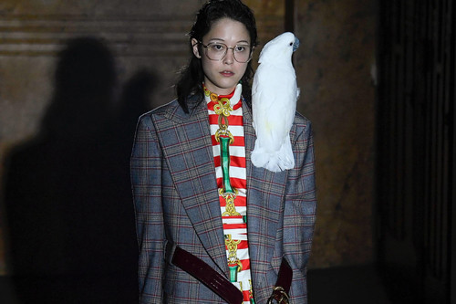 1e032e013ea22 Gucci s SS19 Collection Was a Technicolor Dream Filled With  Theater-Inspired Pieces