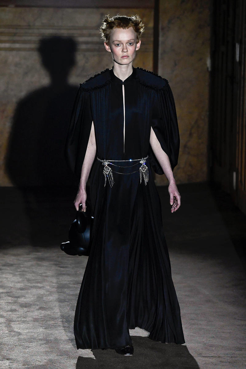 Gucci Alessandro Michelle Spring Summer 2019 Paris Fashion Week Show Collection Dress Black