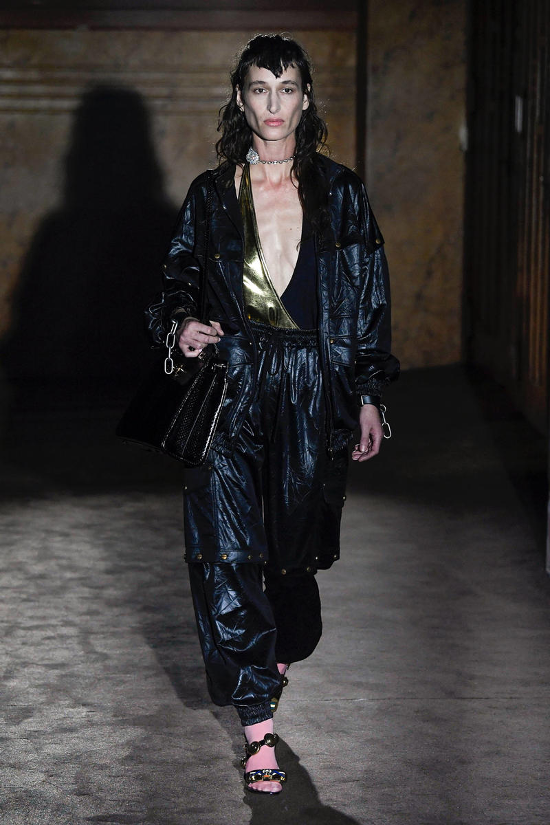 Gucci Alessandro Michelle Spring Summer 2019 Paris Fashion Week Show Collection Jumpsuit Black