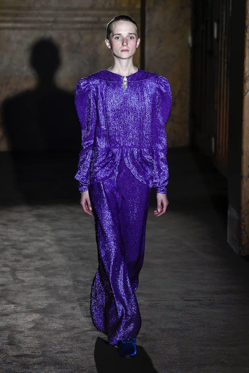 Gucci Alessandro Michelle Spring Summer 2019 Paris Fashion Week Show Collection Dress Purple