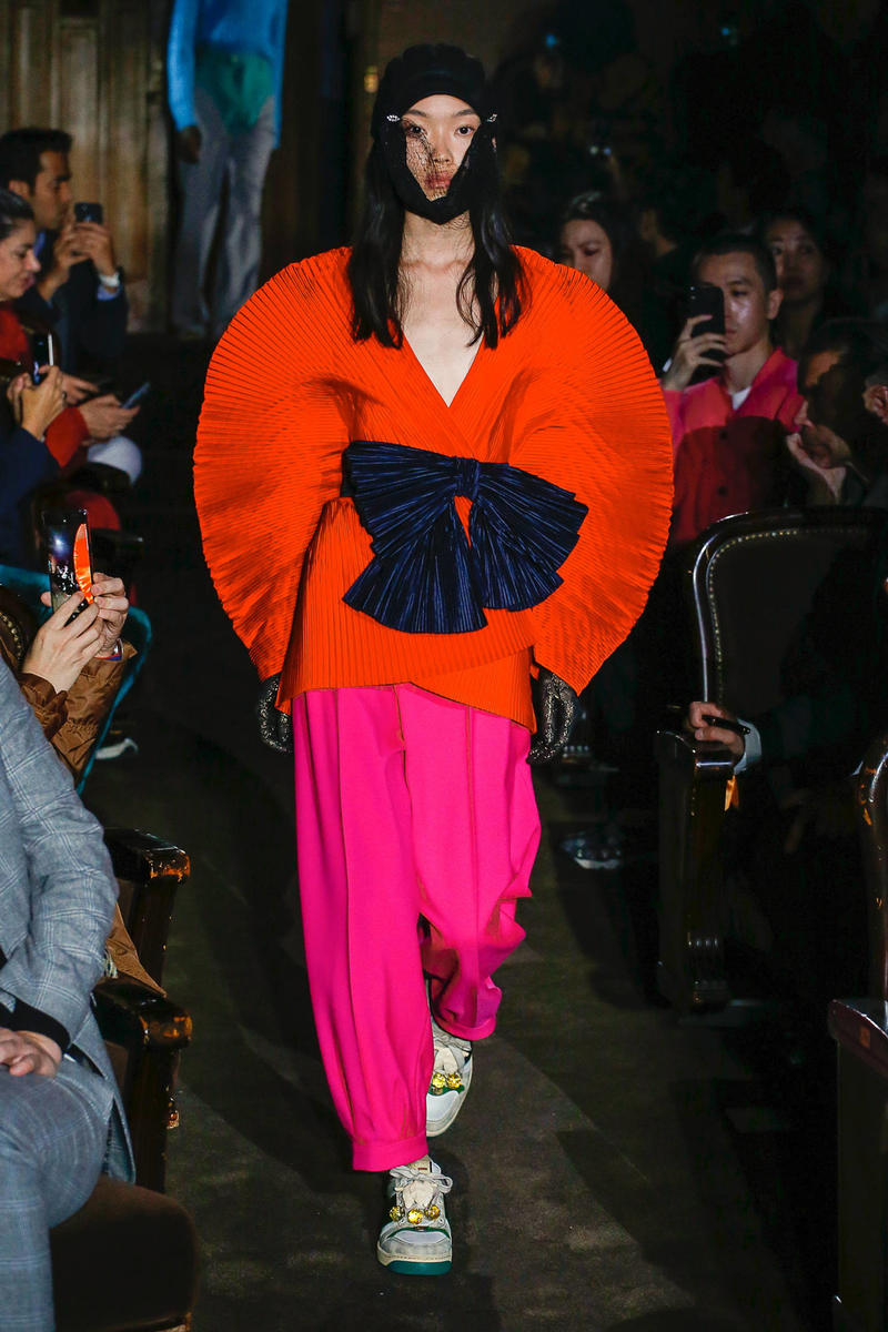 Gucci Alessandro Michelle Spring Summer 2019 Paris Fashion Week Show Collection Top Orange Pants Pink