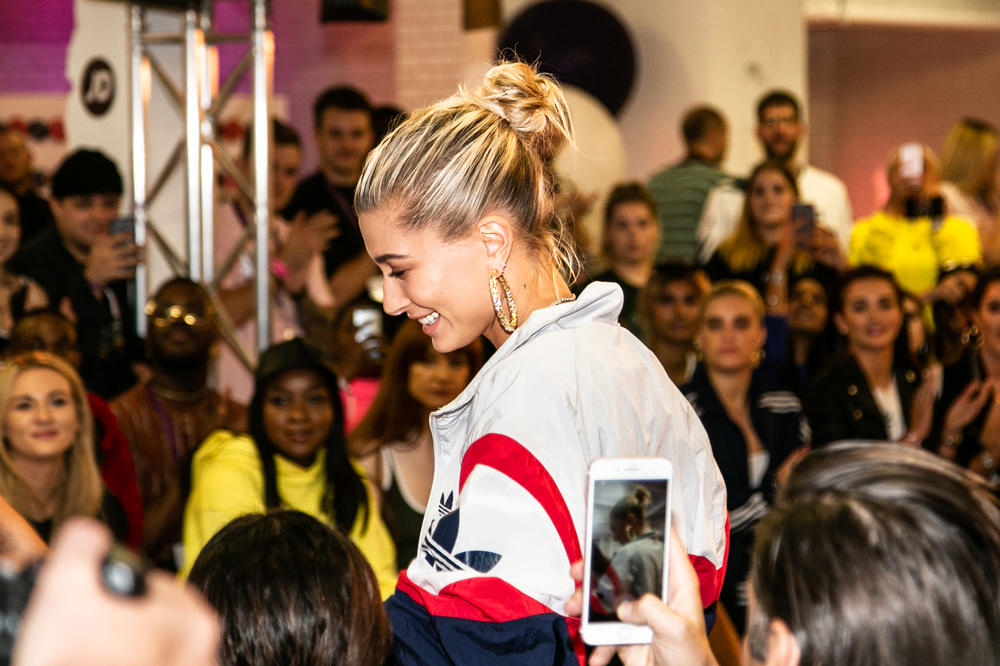 Hailey Baldwin adidas Originals Falcon JD Sports Interview Backstage