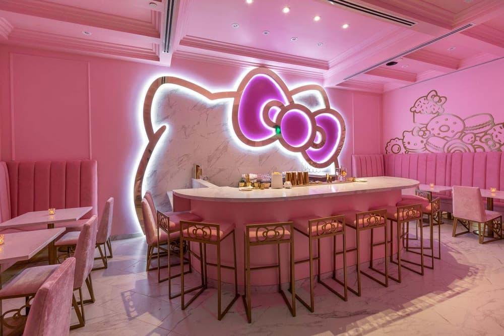 Hello Kitty Grand Cafe Interior Menu Irvine California