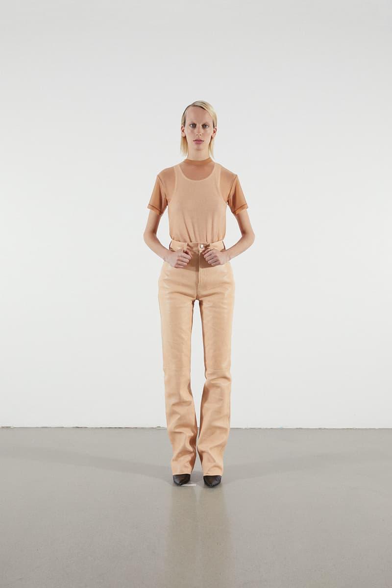 Helmut Lang Jeans Under Construction Capsule Lookbook Shirt Leather Pants Tan