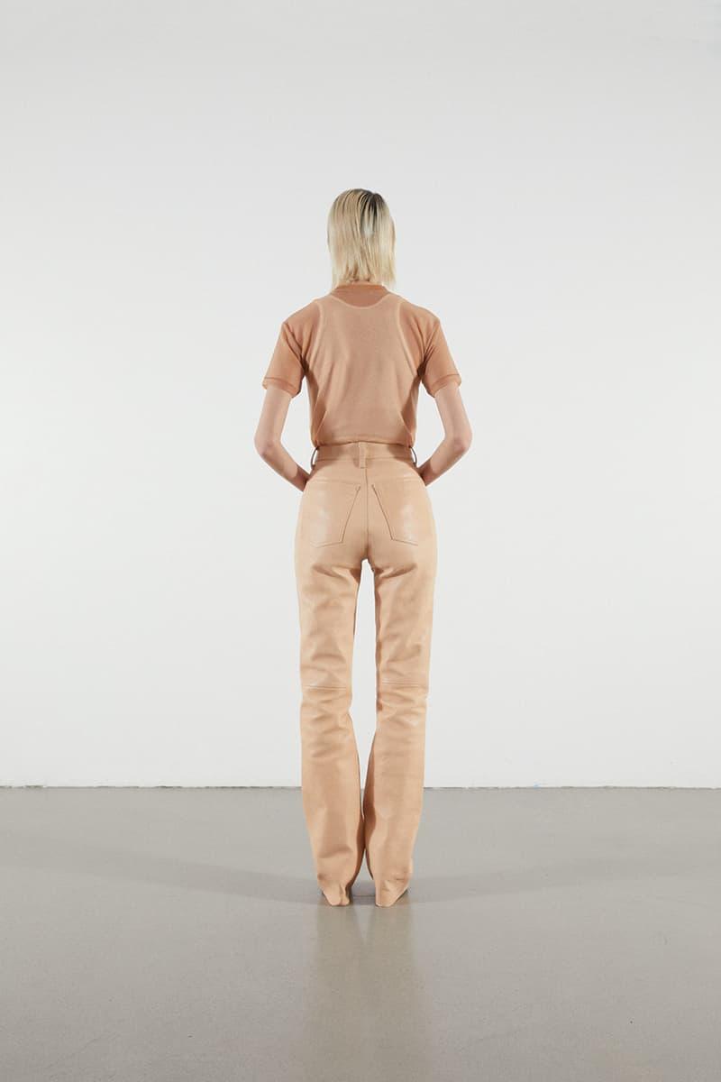 Helmut Lang Jeans Under Construction Capsule Lookbook T-shirt Leather Pants Tan